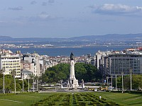 Praça Marquez de Pombal, from the top of Park Eduardo VII