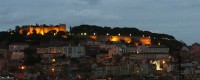 The Castelo São Jorge over Lisbon at sunset