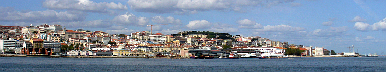 Lisbon from the Tagus, Lisbonne depuis le Tage